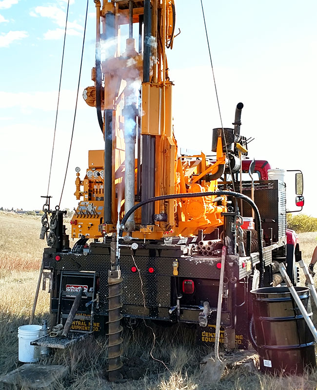 drill rig performing cryogenic core drilling